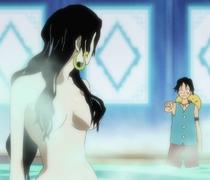 Luffy Interrupts Hancocks Bath