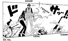 Aokiji overpowered everyone at the same time