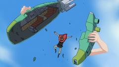 Robin partiendo un submarino