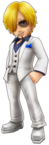 Sanji White Suit Thousand Storm