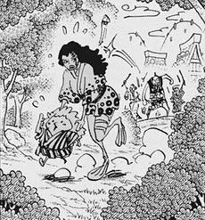 Kawamatsu y su madre siendo atacados