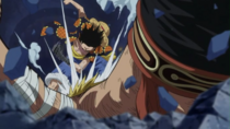 Luffy defeats Bellamy 2