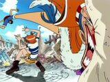 Monkey D. Luffy i Nami kontra Buggy