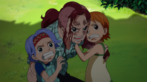 Bell-mère Protects Nami and Nojiko