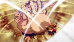 Rufy sconfigge Urashima
