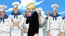 Sanji dejando el Baratie