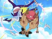 Gedatsu battu par Chopper