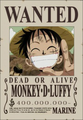 Monkey D. Luffy Avis de Recherche Post Marineford