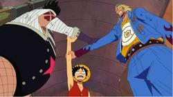 Luffy, Paulie and Zambai team up together