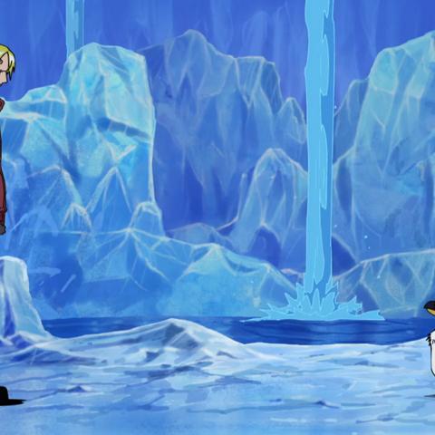 L'altezza di un pinguino Domo in confronto a Sanji, una persona di altezza media