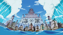 Whitebeard's Tsunamis at Marineford