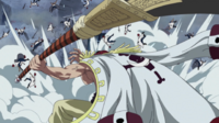 Whitebeard Swings His Bisento