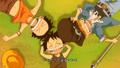 Fight Together Luffy Ace Sabo allongés