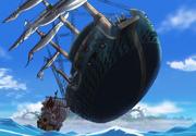 Fujitora Floating a Battleship