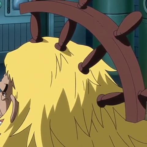 Shiki con il timone conficcato nel cranio