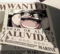 Alvida Anime Wanted Poster
