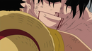 Ace's Bloody Chin in the Anime