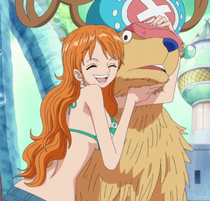Nami Hugs Chopper