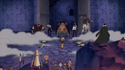 Luffy Confronted by The Blackbeard Pirates