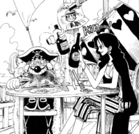 Buggy and Alvida Toast for Their Alliance