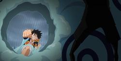 Haki de Luffy sans effets sur Trébol