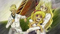 Livia con su marido y su hija