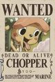 Tony Tony Chopper's Current Wanted Poster.png