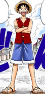 Luffy in the Digitally Colored Manga
