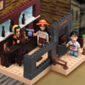 One Piece Mega Bloks Luffy & Shanks