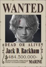 Jack D. Rackham Wanted Poster
