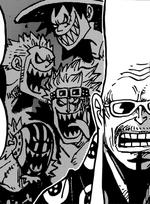 Luffy Zoro Kid et Killer selon Fukurokuju