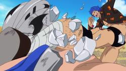 Ricky es derrotado por Bluegilly