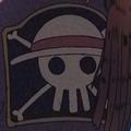 Jolly roger de los de Sombrero de Paja en el ending 14