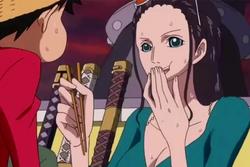 Robin Feeding Luffy