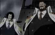 Garp y Sengoku vs Shiki