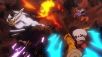 Law, Smoker, Hancock, Sabo and Buggy Attack Bullet