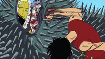 Luffy Punches Krieg With Gomu Gomu no Bullet