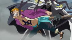 Onigumo deteniendo a Marco