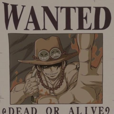 La taglia di Ace come membro dei Pirati di Barbabianca