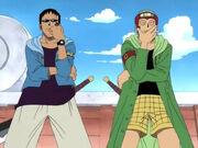 Johnny und Yosaku stellen sich als Shokin Kasegi Unit vor