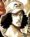 Kuzan de joven en el manga
