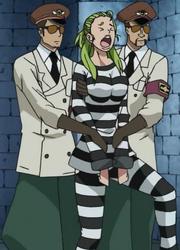 Olive en uniforme de prison