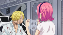 Reiju Treats Sanji's Injuries