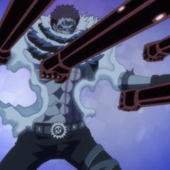 Katakuri evita gli attacchi trasformando le parti del corpo in mochi