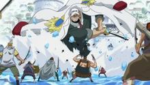 Lacroix combattant les Pirates de Barbe Blanche