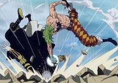 Bartolomeo derrotando a Gladius