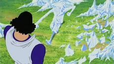 Kuzan perdona la vida a Luffy