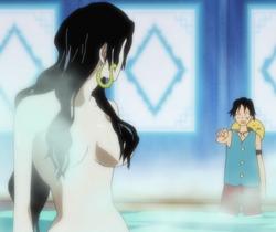 Luffy voit le dos de Hancock