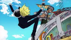 Sanji se enfrenta a Gin