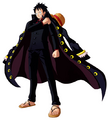 Luffy Unlimited World Red Strong World traje negro